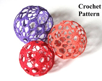 Christmas Balls Crochet Pattern, Christmas Crochet Patterns, Two Crochet Patterns, Crochet Christmas Balls