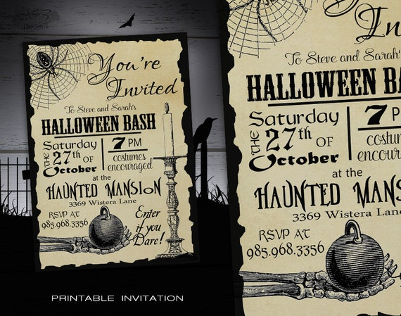 Ridiculous image within printable halloween invitations