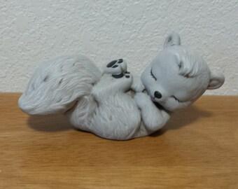 Ceramic Baby Squirrel Sleeping (#456)