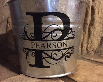 Personalized Metal Bucket.