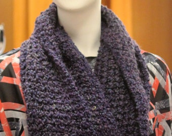Crochet infinity scarf, long circle scarf, long cowl