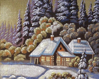 "Gobelin Tapestry Needlepoint Kit ""Winter"" hand painted canvas G1254"