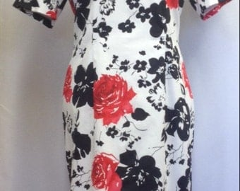 Flowery shift dress UK size 16