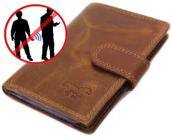 Credit Card Protector Case Wallet . RFID – Protected . Your Data is Safe. 100% Genuine Leather .