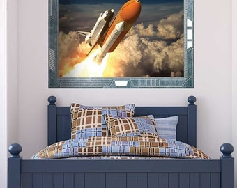 Decal   The Space Shuttle Launching On A Mission   Wall Mural   36x48 Inches Part 62