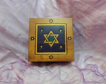 Storage box, wooden box, jewellery box, trinket box, memory bo.