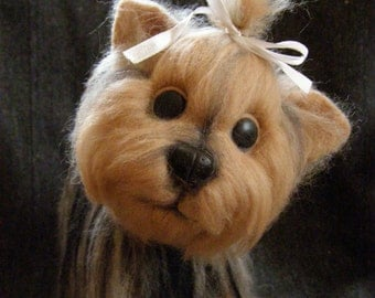 Felted toy.  Dog. Yorkshire terrier