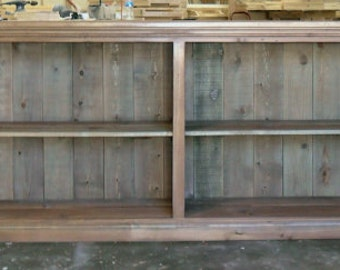 Reclaimed Salvaged Solid Wood Display Cabinet, Bookcase, Vintage and Rustic, VMW210LAT
