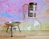 Pyrex Carafe w/ Warmer: Mid Century Pyrex Glassware Beverage Service