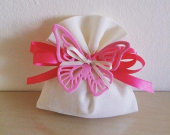 Set of 20 BUTTERFLY Bag-wedding favors