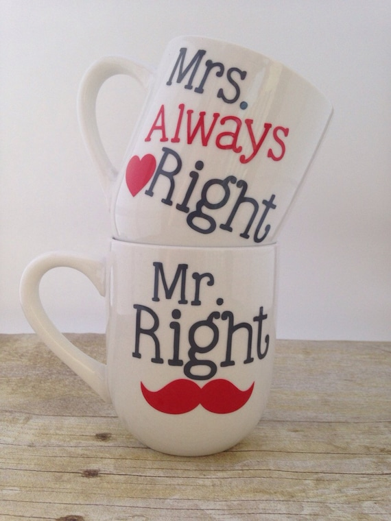 Mrs Always Right Collection Review: Items Similar To Mr. Right And Mrs.always Right Coffee Mug