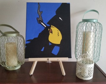 "Batman ""For sure a smoker..."" - Custom Handpainted Acrylic Canvas"