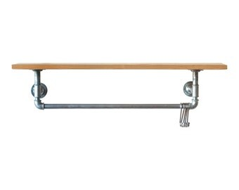 Industrial Steel Pipe Shelf and Rail Shelving Unit Wall Rail