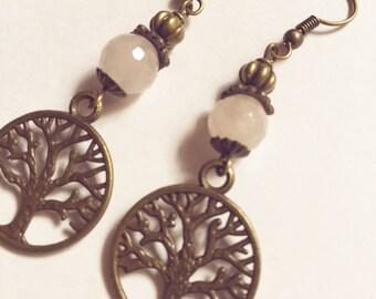 Earrings tree of life