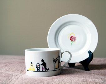 Beauty and the Beast Tea Cup & Saucer