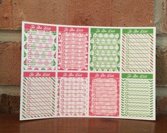 Nautical To Do List - Set of 8 - Pink and Green - Great for Erin Condren, Happy Planner, Calendars, Journaling