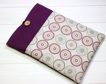 Burgundy laptop case, boho laptop sleeve, 12 inch Macbook case, 11 Macbook Air case, linen laptop sleeve, New Macbook case, purple laptop