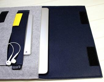 iPad Pro sleeve, iPad Air case, navy blue, tablet case, Galaxy Tab S3 case, iPad Air 2 case, iPad Pro case, iPad Pro 10.5, HTC Nexus 9 case