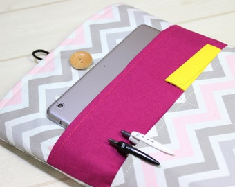 Macbook Air 13 case, Macbook Pro sleeve, New Macbook Pro case, 13 laptop sleeve, laptop sleeve 13, hot pink Macbook, chevron laptop case