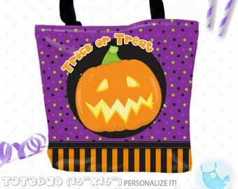 SALE halloween Personalized Tote Bags, custom Tote bag, kids tote, school tote, kindergarten tote, beach tote bag, Tote Bags TB141
