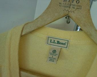Sweater Sale L L BEAN Sweater Vtg Cardigan Lambswool Large