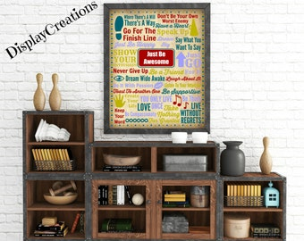 """Personalized """"Positive Quotes"""" Wall Art"""
