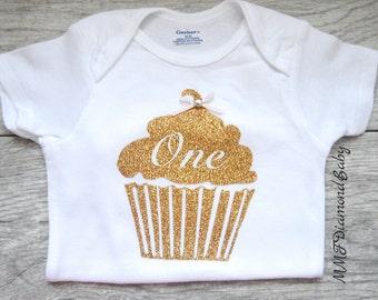 Cupcake Onesie- First Birthday Onesie- Cupcake Onesie-First Birthday Cupcake Onesie-1st Birthday Onsie
