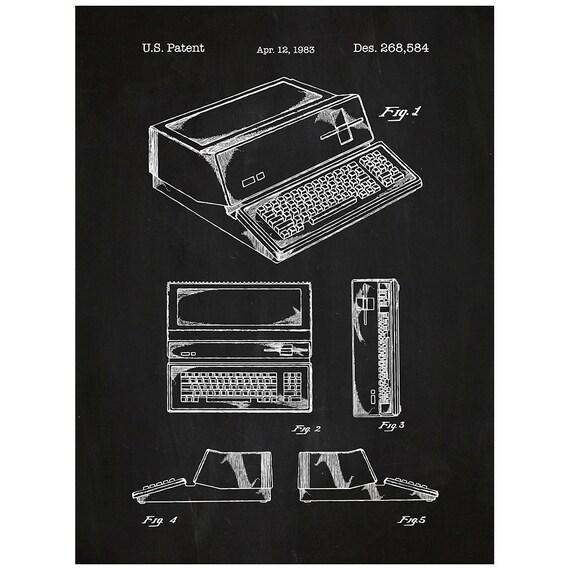 Etsy Computer Patent Prints