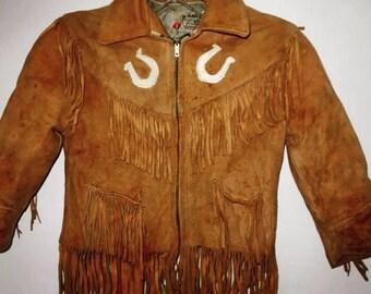 Vintage children's suede western jacket.