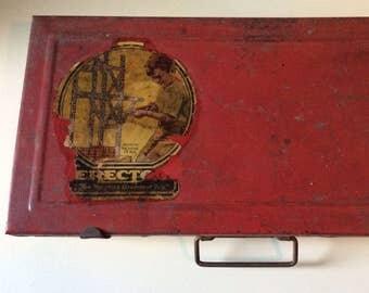 Erector Set  #6 1/2 Electric Engine Set/A. C. Gilbert Co./Steel Erector Set/1930's Erector Set/Collectible Toys/Building Toys/Erector Set