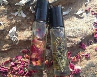 vegan herbal aromatherapy roll on set ~
