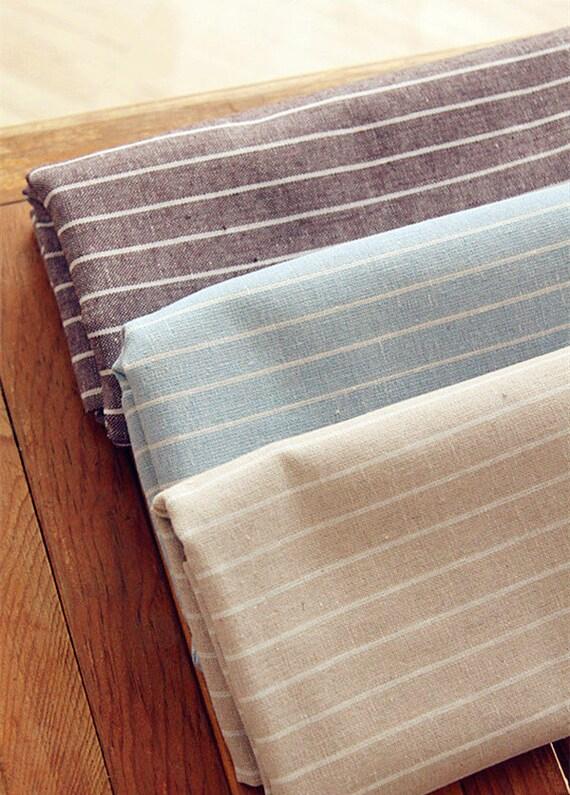 Stripe Fabric Cotton Linen Stripe Fabric Linen Cotton