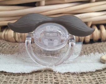 Brown Mustache Pacifier / baby gift/ Christmas
