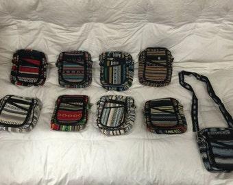 Handmade 3 pouch purse