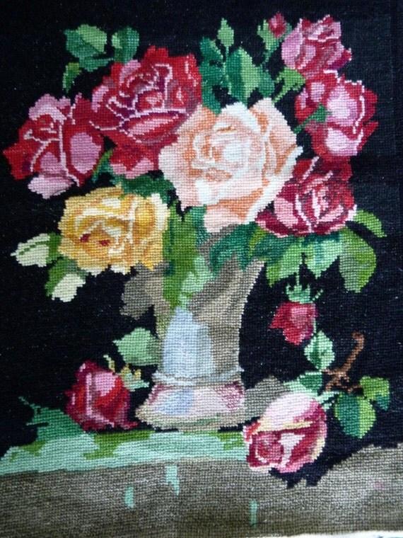 Vintage ukrainian embroidery great quality old folk