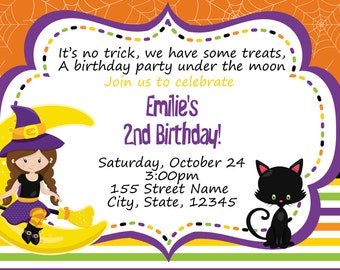Halloween Invitation / Halloween Birthday / Halloween Birthday Party / October Birthday / Halloween Themed