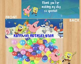Spongebob Bag Toppers / Spongebob Toppers / Spongebob Favors / Spongebob