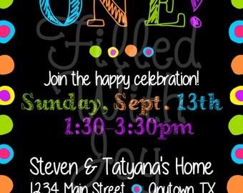 Digital/Printable Bright Colors Invitation
