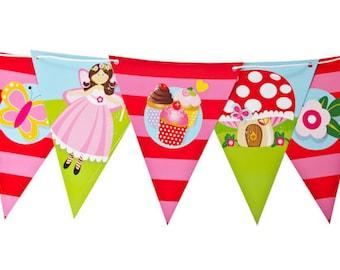 Cupcake Fairy Bunting Flag