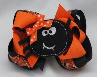 Sally Spider Halloween Hair Bow