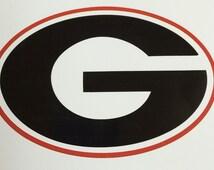 "Georgia Bulldogs Decal vinyl Car sticker 4"" x 6"" new window decal window sticker"