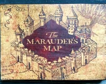 SAMPLE SALE: Marauders Map Distressed Sign