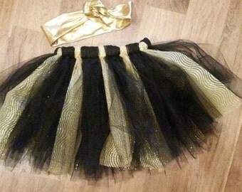 Gold Tutu, Gold and BlackTutu, Black and Gold Tutu, Girls Tutu, Infant Tutu, New Orleans Saints Tutu, Black Tutu
