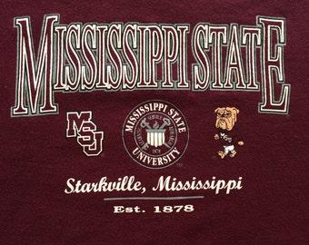 Vintage Mississippi State University Youth XL Sweatshirt