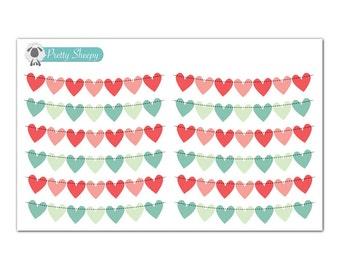 Weekend Heart Banner Planner Stickers