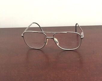 L'Amy Vintage Prescription Titanium Eyeglasses Bi - focals