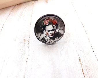 Frida Kahlo Black  Ring/ Frida Kahlo Jewelry