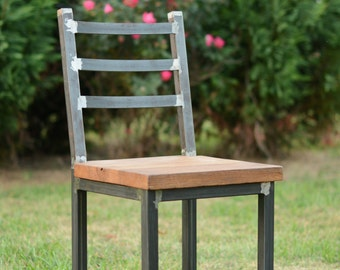 Wood and Steel Dining Chair - Reclaimed Lumber