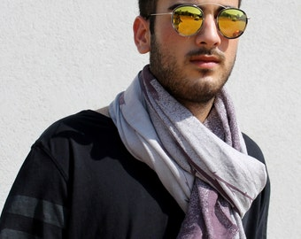 Men Scarf Gray Scarf Men Infinity Scarf Cotton Men Scarf Men Fashion Gifts For Him Cool Mens Gifts Men Scarves Scarf Mens Gifts For Men