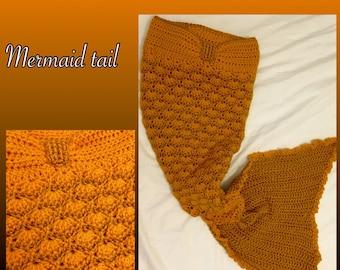 Crochet mermaid cocoon.